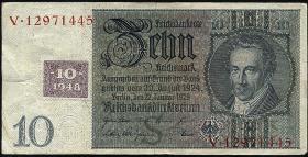 R.334a: 10 DM 1948 Kuponausgabe  (3)