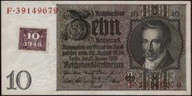 R.334b: 10 DM 1948 Kuponausgabe Serie E/F (1-)