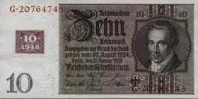 R.334b: 10 DM 1948 Kuponausgabe (1)