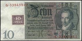R.334b: 10 DM 1948 Kuponausgabe Serie E/G (1)