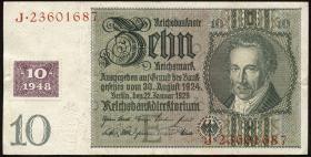 R.334b: 10 DM 1948 Kuponausgabe (3)