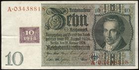 R.334c: 10 DM 1948 Kuponausgabe (3)