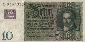 R.334F: 10 DM 1948 Kuponausgabe - braune Kenn-Nummer (1)