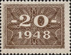 R.335: 20 DM 1948 Kupon mit original Gummi (1)