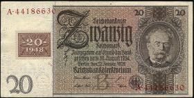 R.335a: 20 DM 1948 Kuponausgabe Siemens  (1-)