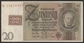 R.335a: 20 DM 1948 Kuponausgabe Siemens  (2)