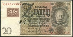 R.335M 20 DM 1948 Kuponausgabe Muster Perforation (1-)