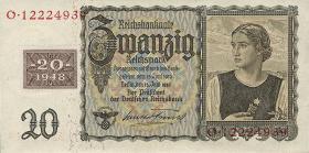 R.336: 20 Mark 1948 Kuponausgabe Österreicherin (1)