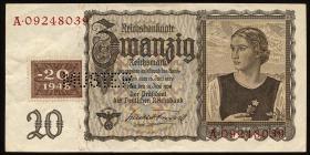R.336M 20 DM 1948 Kuponausgabe Muster (2)