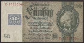 R.337b: 50 Mark 1948 Kuponausgabe  (2)