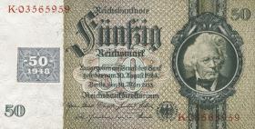 R.337d: 50 DM 1948 Kuponausgabe  Kriegsdruck (1)