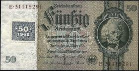 R.337F: 50 Mark 1948 Kuponausgabe braune Kenn-Nummer (1)