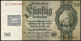 R.337F: 50 Mark 1948 Kuponausgabe braune Kenn-Nummer (3)