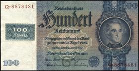 R.338a: 100 DM 1948 Kuponausgabe (1)