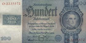 R.338a: 100 DM 1948 Kuponausgabe (2)