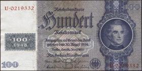 R.338b: 100 DM 1948 Kuponausgabe (2)
