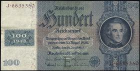 R.338F: 100 DM 1948 Kuponausgabe braune Kenn-Nummer (1/1-)