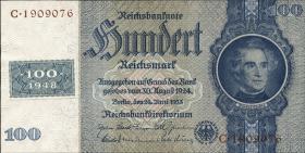 R.338F: 100 DM 1948 Kuponausgabe braune Kenn-Nummer (1)