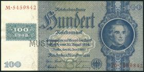 R.338M 100 DM 1948 Kuponausgabe Muster Perforation (1)