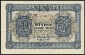 R.339b: 50 Pfennig 1948  Serie FH 6-stellig (1/1-)