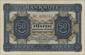 R.339b: 50 Pfennig 1948 6-stellig Serie DD (1)