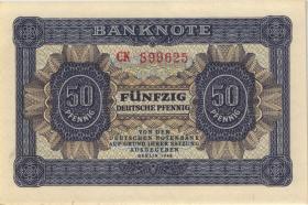 R.339b: 50 Pfennig 1948 6-stellig Serie CK (1)