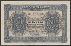 R.339c: 50 Pfennig 1948  Serie XB Ersatznote (1-)