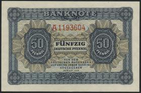 R.339d: 50 Pfennig 1948 7-stellig Serie A (1)