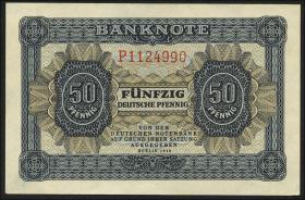 R.339d: 50 Pfennig 1948 7-stellig Serie P (1)