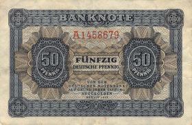 R.339d: 50 Pfennig 1948 Serie A 7-stellig (3+)