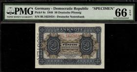 R.339M: 50 Pfennig 1948 Muster Perforation (1)