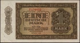R.340a: 1 DM 1948 6-stellig Serie Z (1/1-)