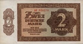 R.341b 2 DM 1948 6-stellig Serie AZ (1)