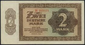 R.341c 2 DM 1948 6-stellig Ersatznote XL (2-)