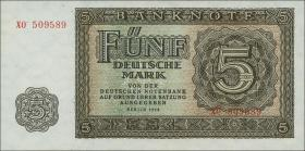 R.342c 5 DM 1948 XO Ersatznote 6-stellig (1/1-)