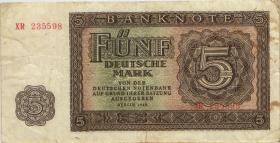 R.342c 5 DM 1948 XR Ersatznote (3)