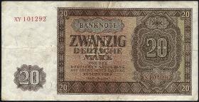 R.344c 20 DM 1948 Ersatznote (3+)