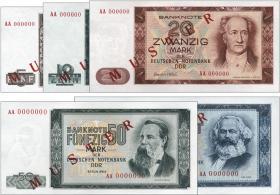 R.354M-358M Banknotensatz 1964 MUSTER (5 Werte) (1)