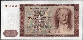 R.356b 20 Mark 1964 ZU Ersatznote (1)
