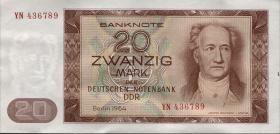 R.356b 20 Mark 1964 YN Ersatznote (1)