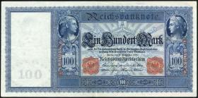 """R.038 100 Mark 1909 """"Flottenschein"""" (2-)"""