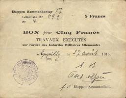 R.408 5 Francs 1915 (3+)