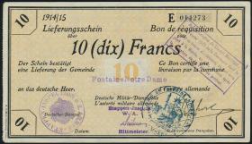 R.416a 10 Francs 1914/15 Deichmann-Bon (1-)
