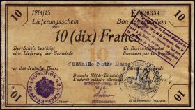 R.416a 10 Francs 1914/15 Deichmann-Bon (2)