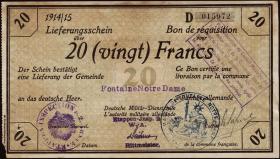 R.417a 20 Francs 1914/15 Deichmann-Bon (2)
