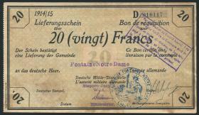 R.417a 20 Francs 1914/15 Deichmann-Bon (3)