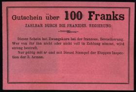R.432: Frankreich 100 Francs (1915) Specimen (2)