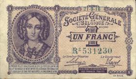 R.433b: Besetzung Belgien 1 Franc 1916-1918 (2)