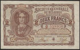 R.434: Besetzung Belgien 2 Francs 1915-1918 (2)