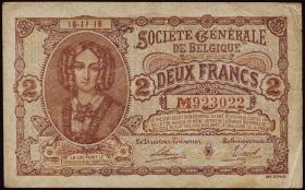 R.434: Besetzung Belgien 2 Francs 1915-1918 (3)